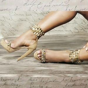 Kylie Spike & Stud High Heel Sandal
